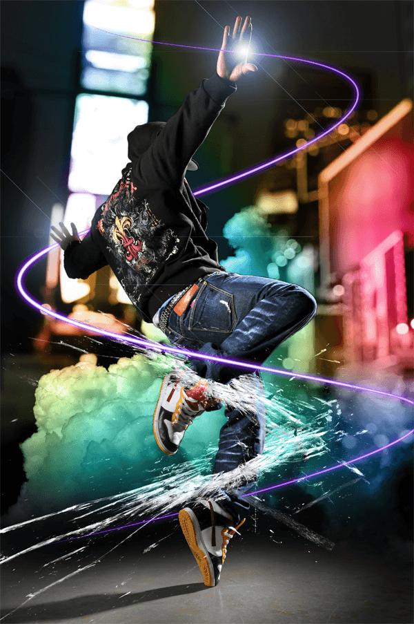 Dazzling Dance Photo Manipulation