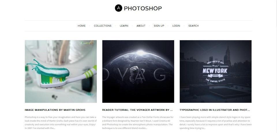Abduzeedo Photoshop Tutorials Website