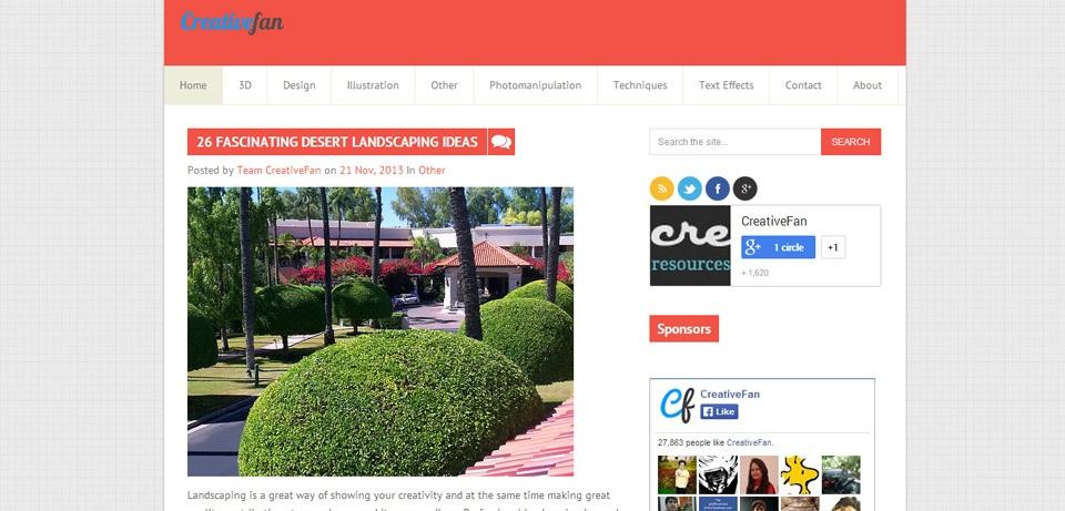CreativeFan Photoshop Tutorials Website
