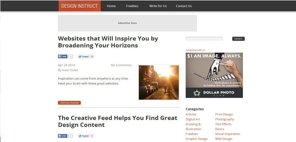 Design Instruct Photoshop Tutorials Website