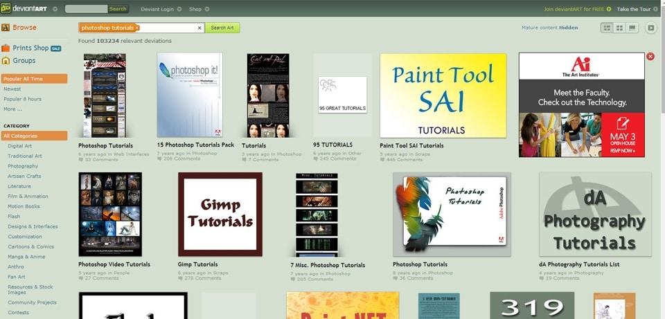 DeviantArt Photoshop Tutorials Website