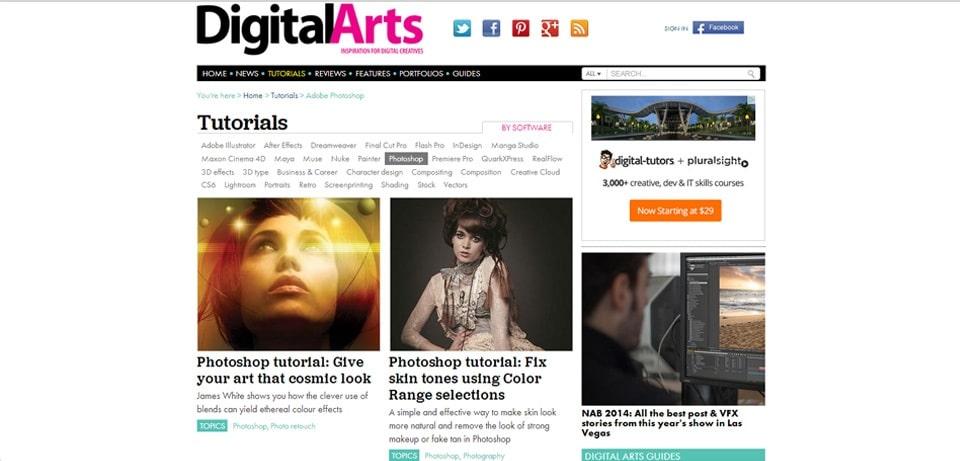 Digital Arts Photoshop Tutorials Website
