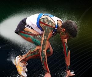 Futuristic Athlete Graphic Photoshop Effect