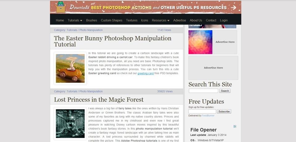 PSD Dude Photoshop Tutorials Website