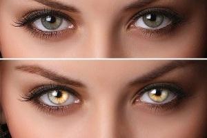 Radial Zoom Enhanced Eyes Photoshop Effect