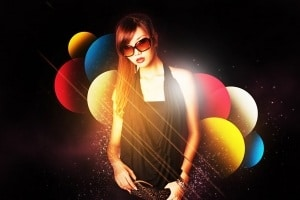 Stylize Model Shoot Using Colorful Shapes in Photoshop