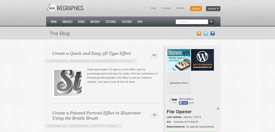 WeGraphics Photoshop Tutorials Website