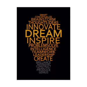 15 Best Inspiring Entreprenuer Quotes-Inspirational Light Bulb custom poster