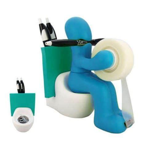 Desk Gadget-The Butt Office Supply Station Desk Accessory Holder Blue