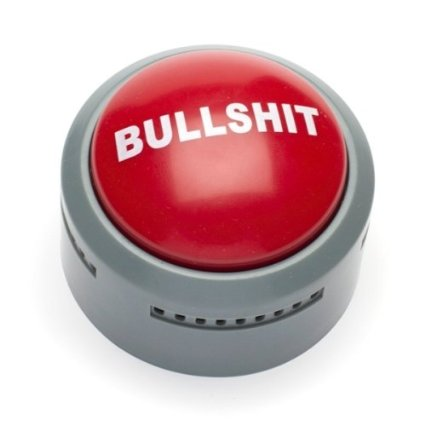 The Official BS Button Office Desk Accessory