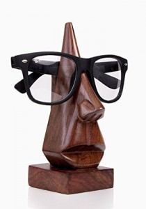 Classic Hand Carved Rosewood Nose-shaped Eyeglass Spectacle Eyewear Holder Office Gift Ideas