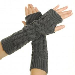 Eforcase Women's Crochet Long Fingerless Gloves with Thumb Hole Office Gift Ideas