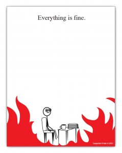 Everything is Fine Notepad 4.25 x 5.5 inches 50-sheets Office Gift Ideas