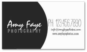 Camera Business Card Photography Examples of Professional Business Card Designs BACK