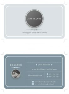 Circles and Lines in Grays Examples of Professional Business Card Designs