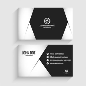 Modern in Monochromatic Examples of Professional Business Card Designs
