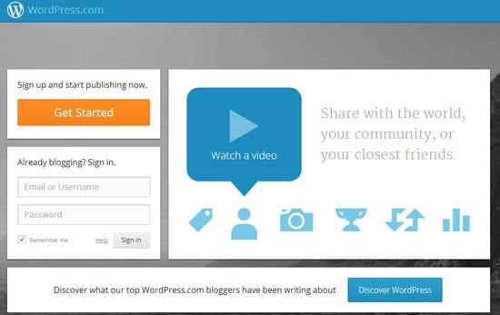 Free Blog Sites WordPress