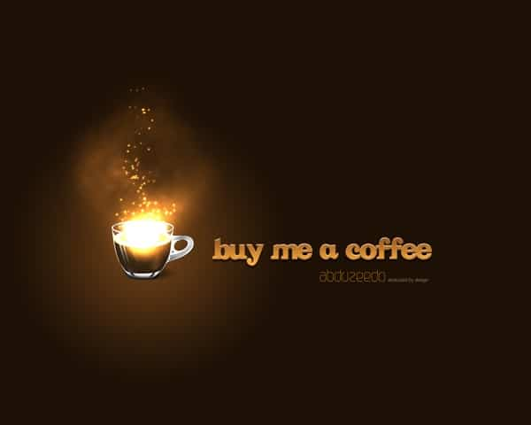 Amazing Coffee Photoshop Light Effect