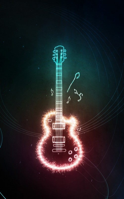 Electrifying Light Guitar Photoshop Lighting Effect