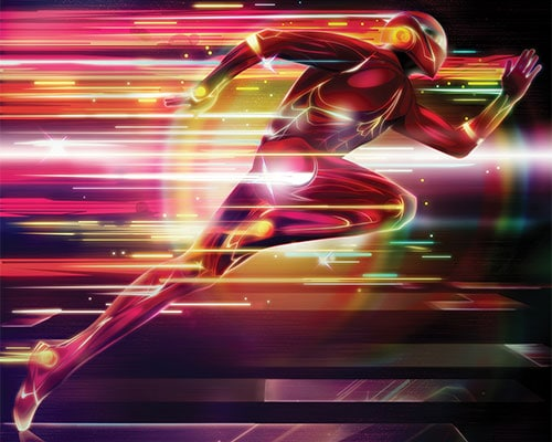 Glowing Superhero Photoshop Lighting Effects
