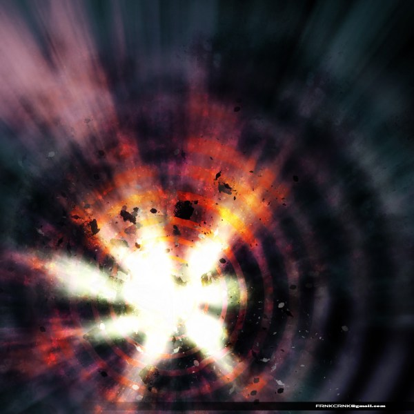 Space Explosion from Scratch Photoshop Effect