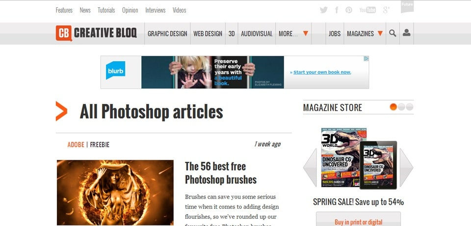 CreativeBloq Photoshop Tutorials Website