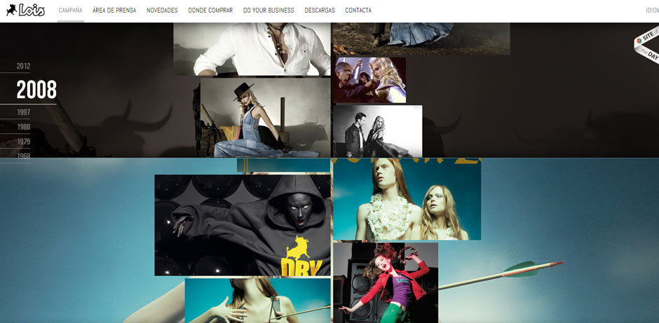Lois Jeans Parallax Scrolling Effect