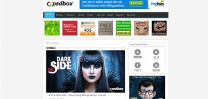 PSD Box Photoshop Tutorial Website