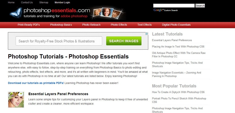 PhotoshopEssentials Photoshop Tutorials Website