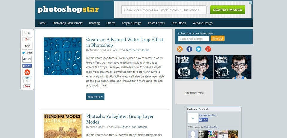 PhotoshopStar Photoshop Tutorials Website