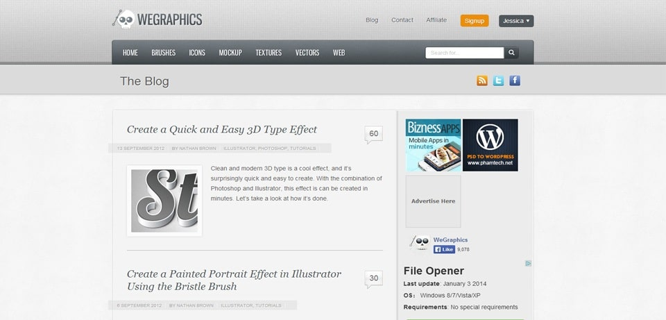 WeGraphics Photoshop Tutorials Website