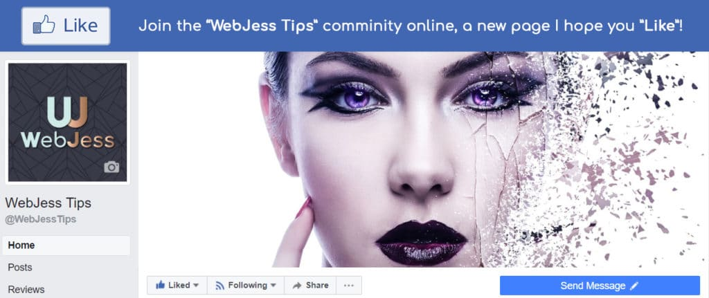 WebJess tips Facebook Like Banner