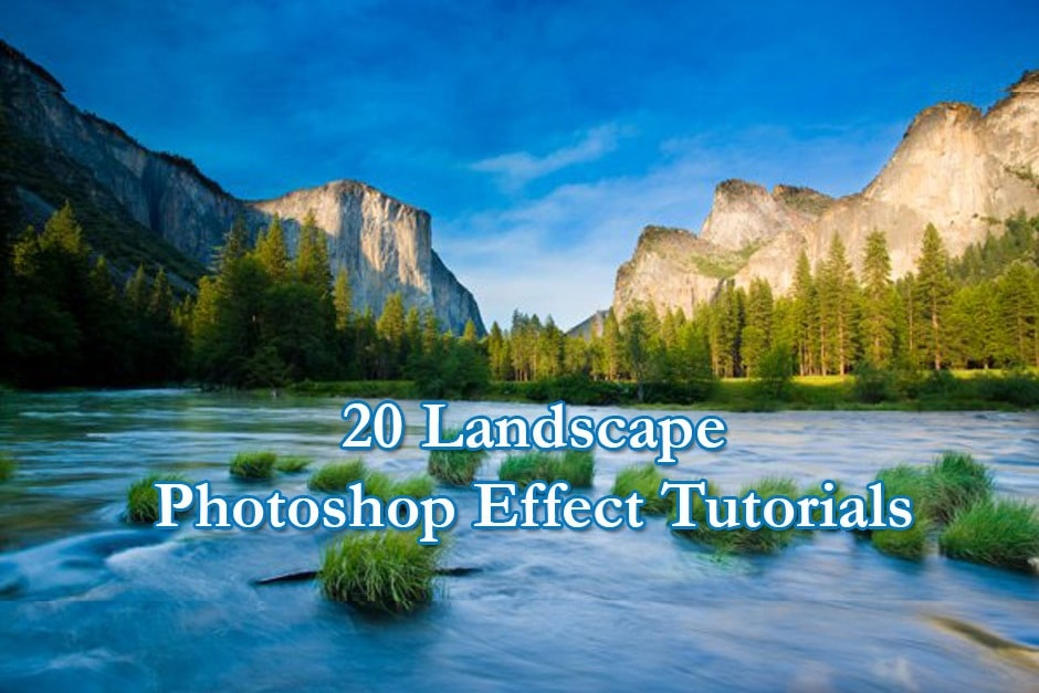 20 landscape photoshop effect tutorials to look professional How to landscape
