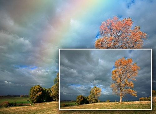 Realistic Rainbow Landscape Photoshop Effect Tutorial