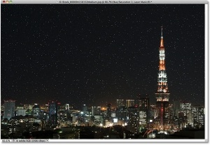 Create a Starry Night Sky Landscape Photoshop Effect Tutorial