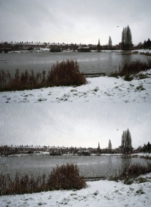 Snow to a Shot Landscape Photoshop Effect Tutorial