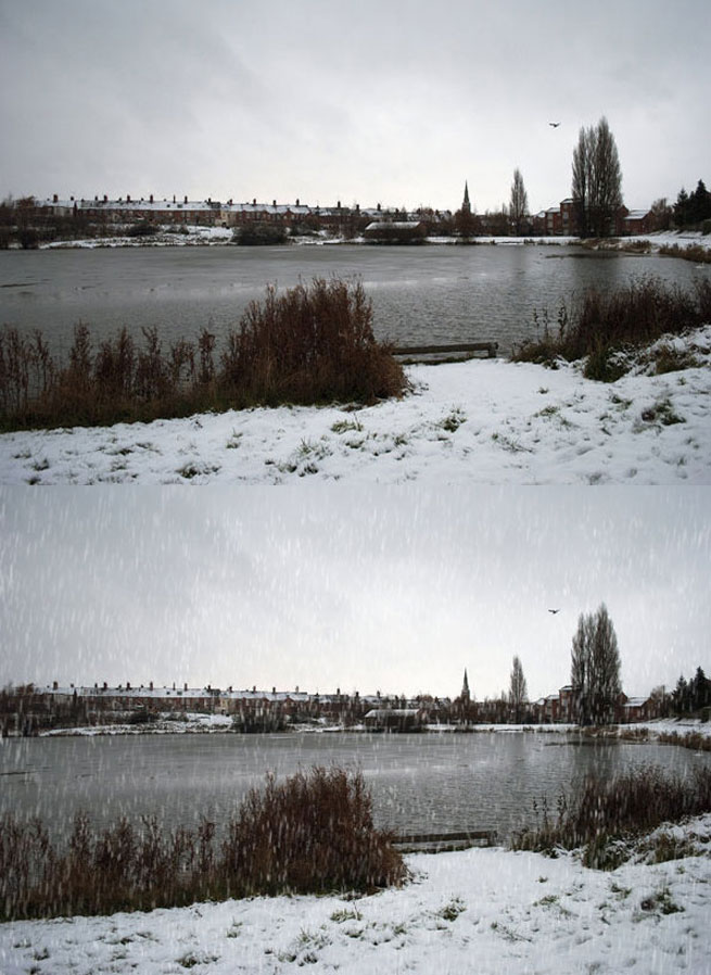 Snow to a Shot Landscape Photoshop Effect Tutorial