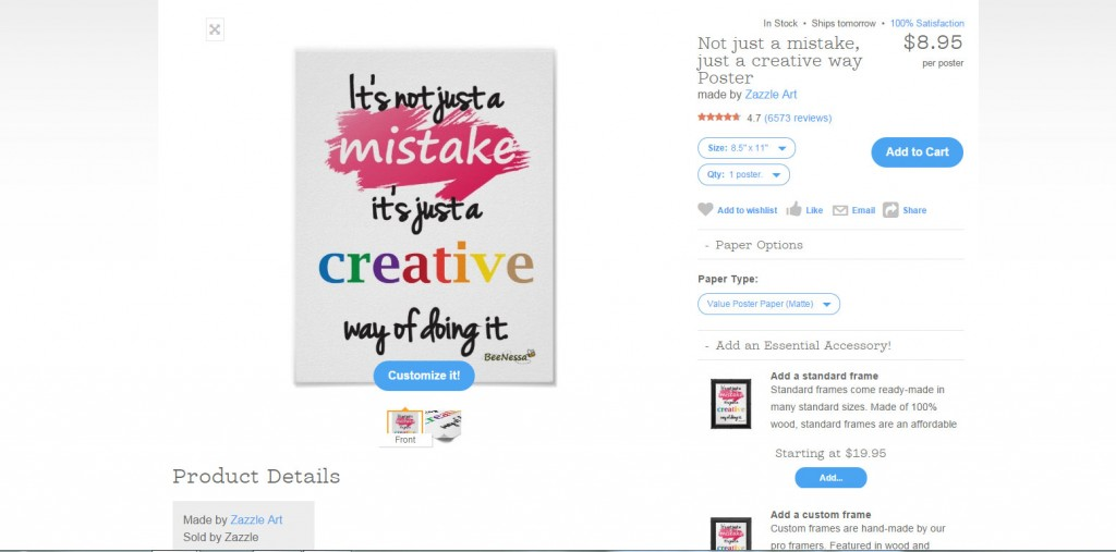 How to Sell Zazzle Products on Your Own Site 3