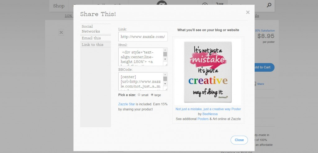 How to Sell Zazzle Products on Your Own Site 8