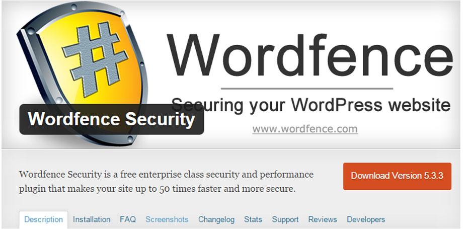Wordfence Security Best Plugins WordPress