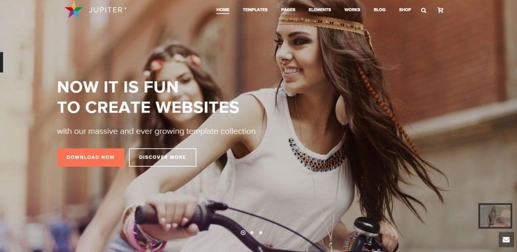 Jupiter Parallax WordPress Themes