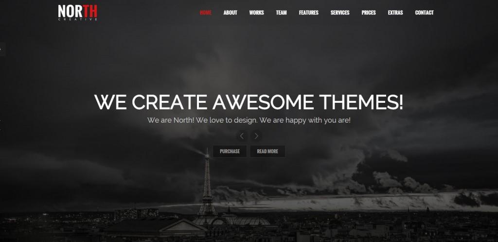 North 2 Parallax WordPress Themes