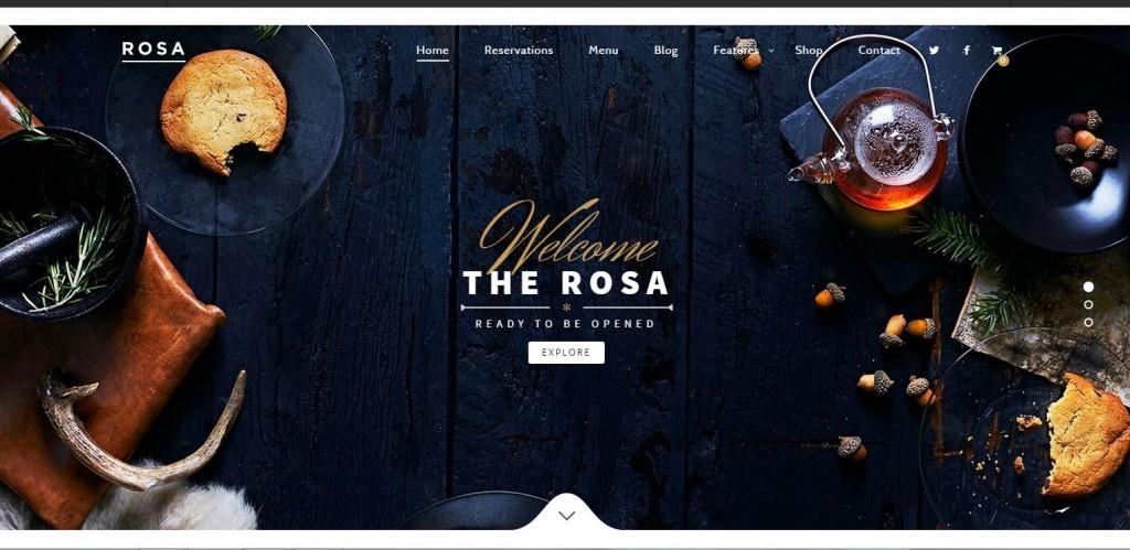 ROSA Parallax WordPress Themes