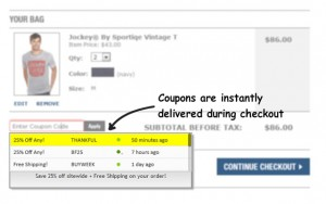 Coupons at Checkout Chrome Extension