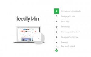 Feedly Mini Chrome Extension