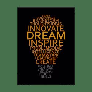15 Best Inspiring Entreprenuer Quotes-Inspirational Light Bulb custom poster