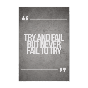 15 Best Entreprenuer Quotes-Try and Fail but Never Fail to Try