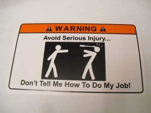 Avoid Injury Warning Sticker Decal Funny Adult Work Office Gift Ideas
