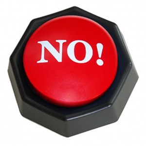The NO! Button-Electronic Voice Toy Gag Gift-10 Different Versions of No Office Gift Ideas