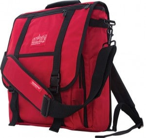 MANHATTAN PORTAGE COMMUTER LAPTOP BAG WITH BACK ZIPPER - RED BACKPACKS Cool Laptop Bags